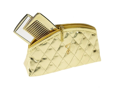 Janeke Golden Quilted Pouch Small