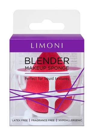 Limoni Blender Makeup Sponge Red